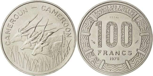 100 Francs 1975 Paris Kamerun MS(63)