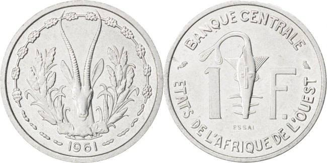 Franc 1961 (a) West African States MS(63)