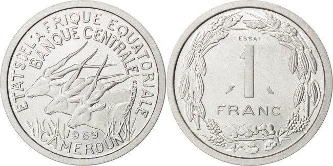 Franc 1969 (a) Äquatorial Afrikanische Staaten MS(63)