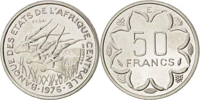 50 Francs 1976 Paris Zentralafrikanische Staaten MS(63)