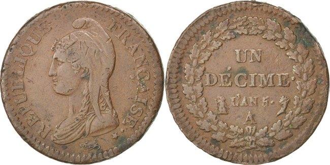 Decime 1796 A Frankreich Dupré EF(40-45)