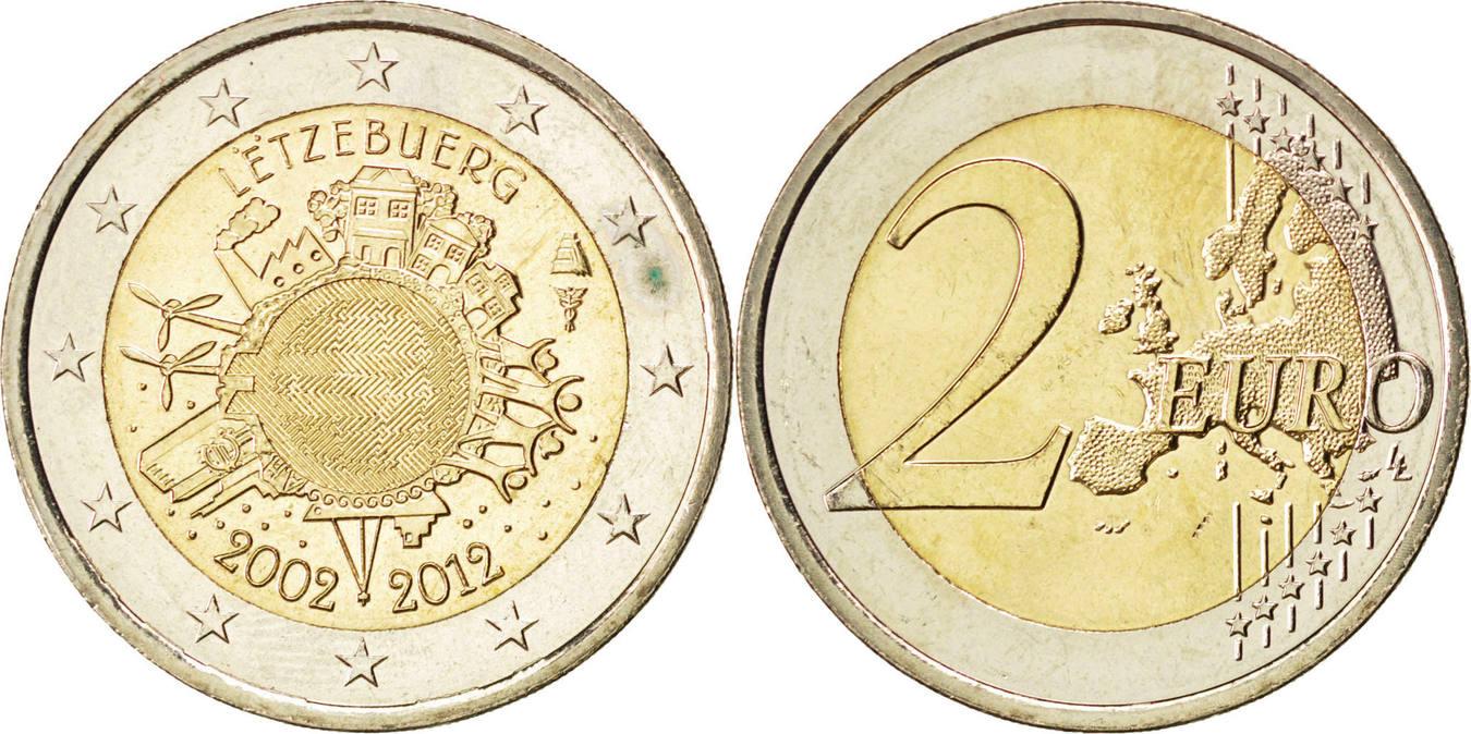 2 Euro 2012 Luxemburg Luxembourg, 8.50 UNZ