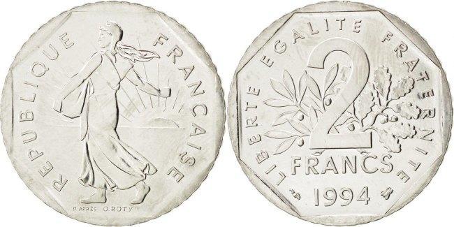 2 Francs 1994 Frankreich Semeuse MS(60-62)