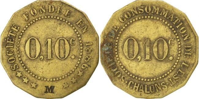 10 Centimes Frankreich EF(40-45)