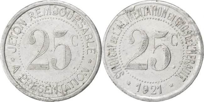 25 Centimes 1921 Frankreich EF(40-45)