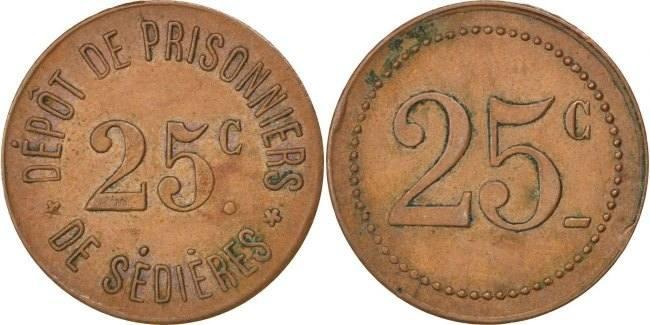 25 Centimes Frankreich EF(40-45)