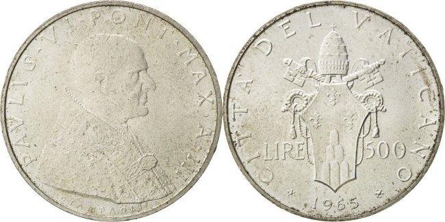 500 Lire 1965 Vatikanstadt Paul VI MS(63)