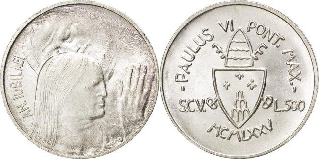 500 Lire 1975 Vatikanstadt Holy Year - Forgiveness Paul VI MS(63)