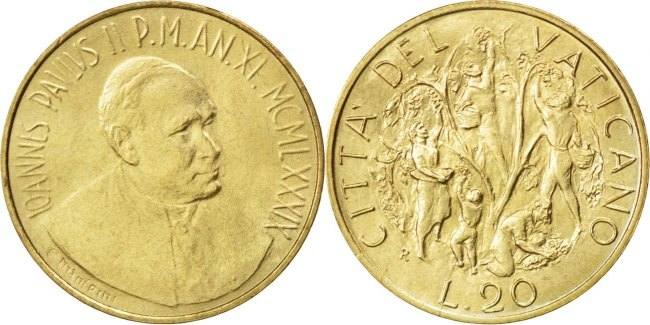20 Lire 1989 Vatikanstadt The Harvest John Paul II MS(63)