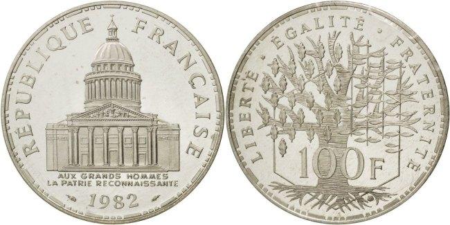 100 Francs 1982 Frankreich MS(65-70)