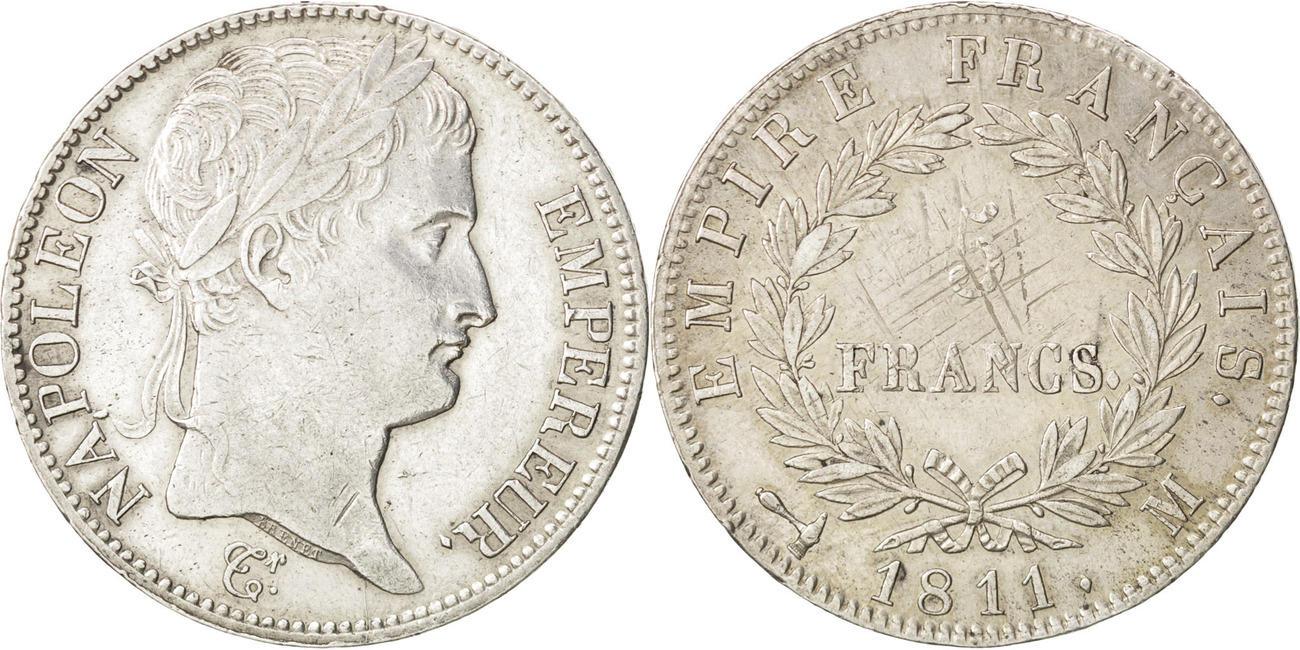 5 Francs 1811 M Frankreich Napoléon I AU(50-53)