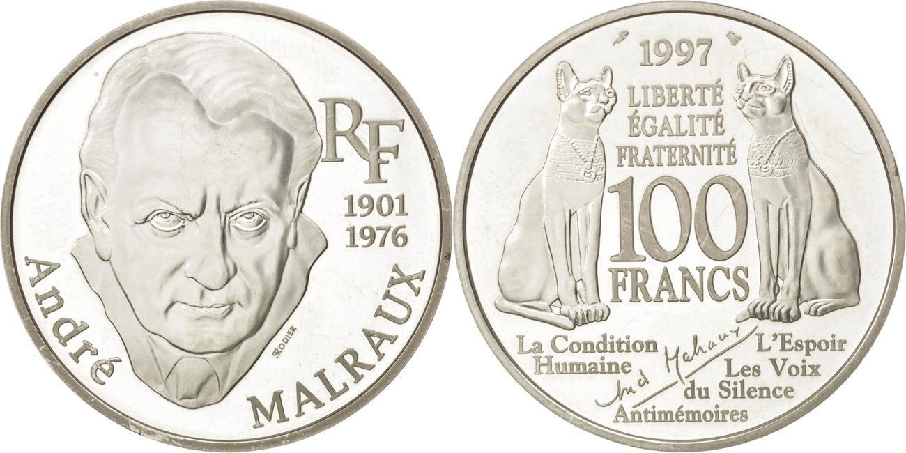 100 Francs 1997 Frankreich Andre Malraux AU(55-58)