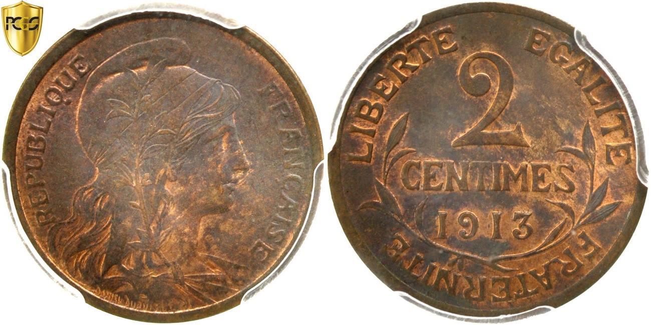 2 Centimes 1913 Paris Frankreich Dupuis MS(63)