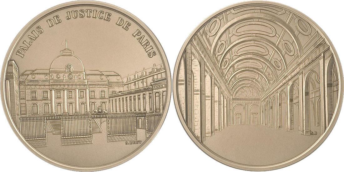 Medal Frankreich FRANCE, Politics, Society, War, The Fifth Republic, Bret,... STGL