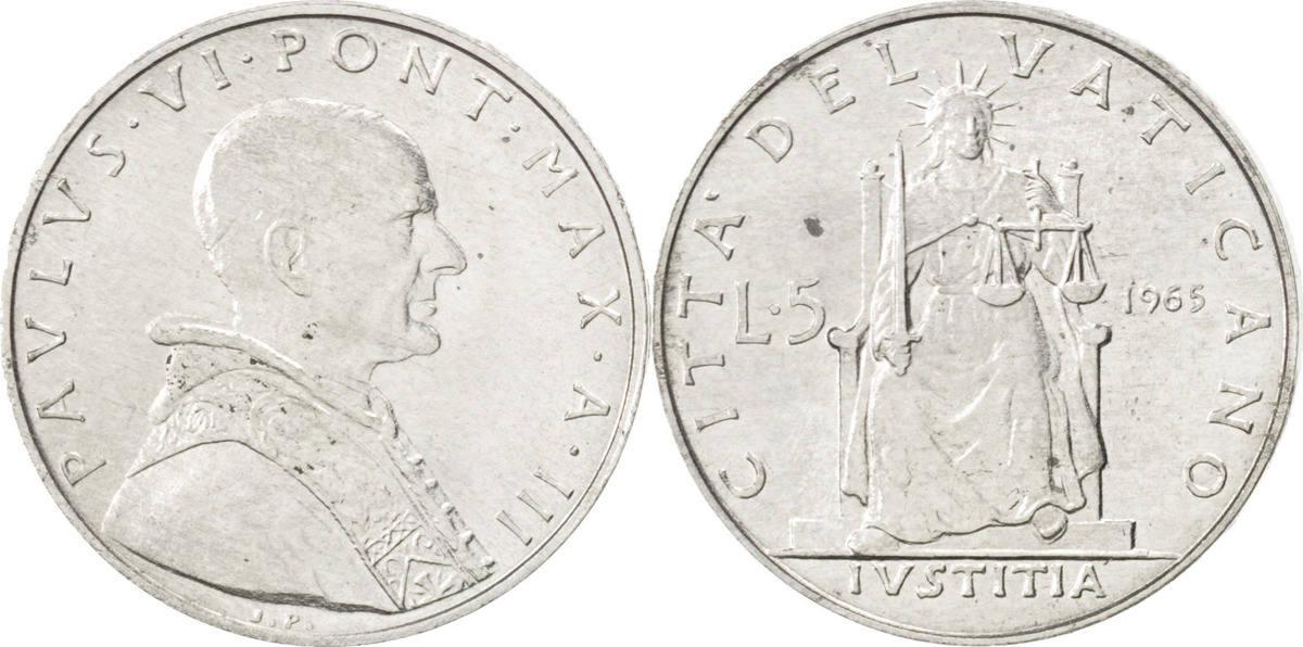 5 Lire 1965 Vatikanstadt Paul VI MS(63)