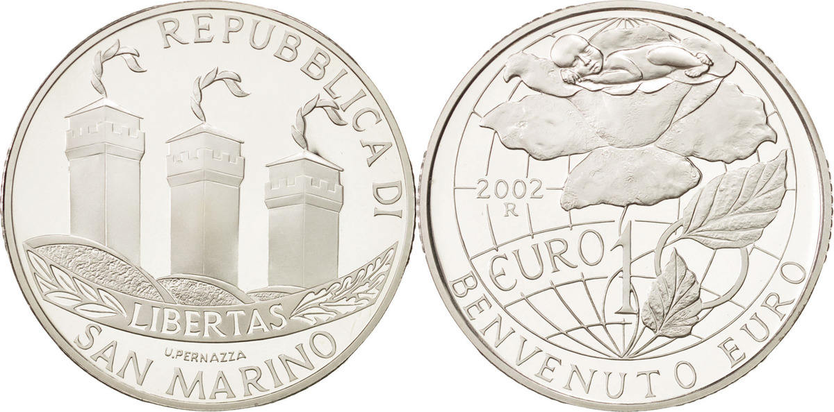 10 Euro 2002 R San Marino Welcome Euro MS(64)