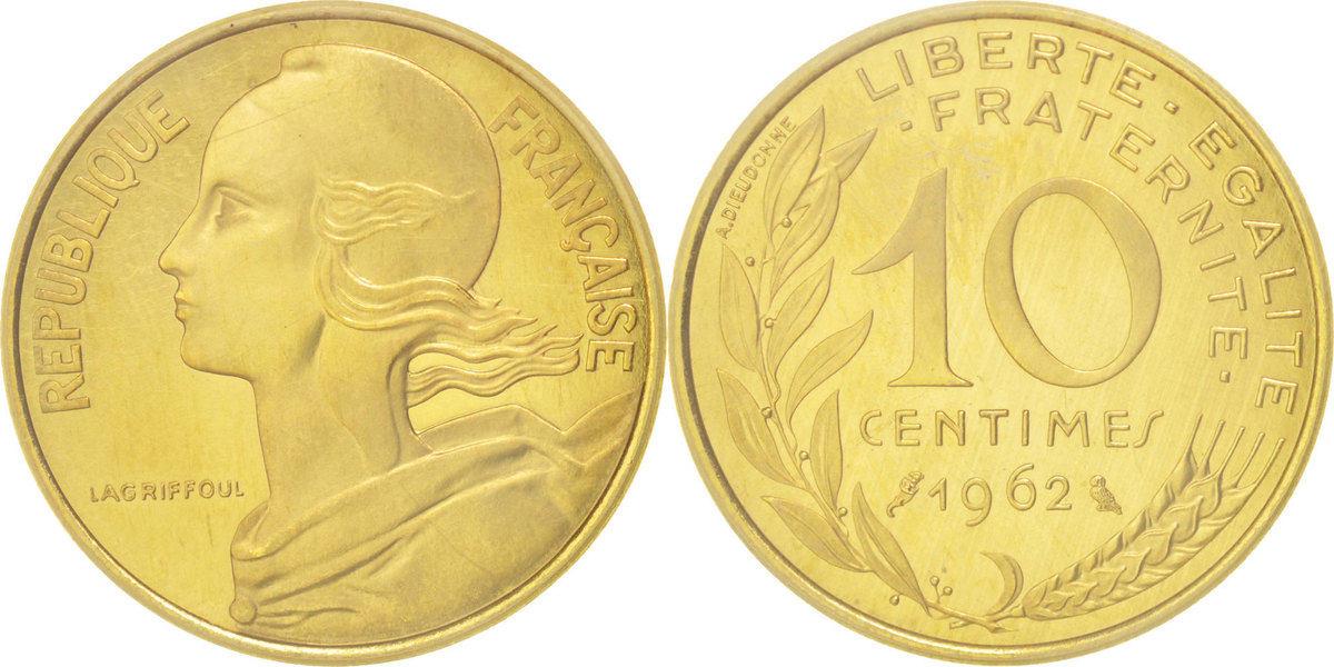 10 Centimes 1962 Frankreich MS(65-70)