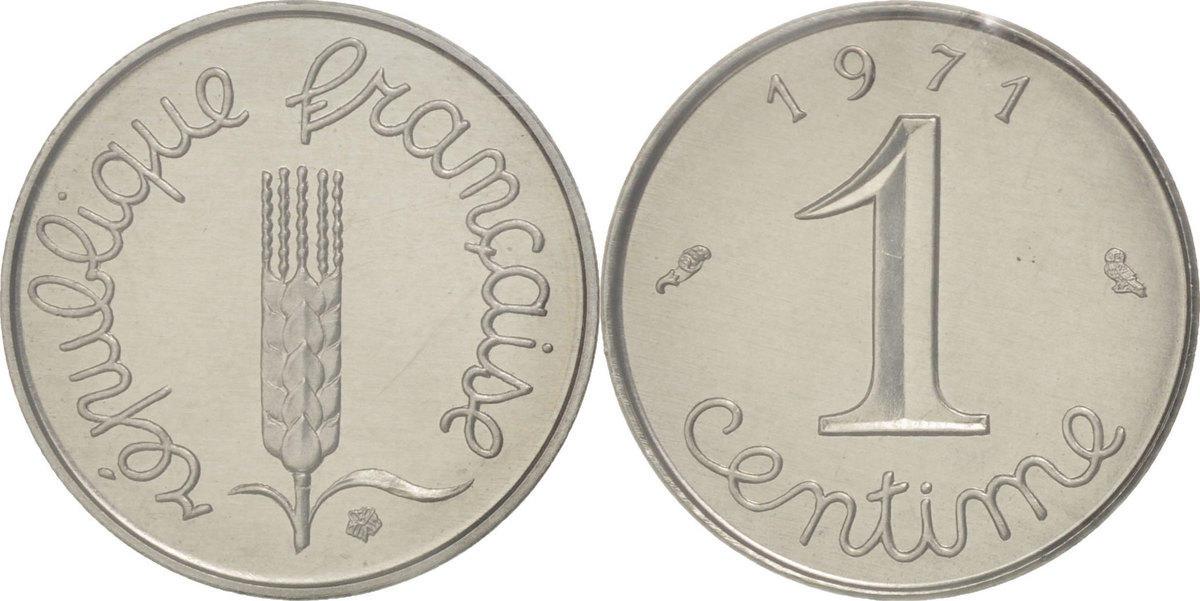 Centime 1971 Frankreich MS(65-70)