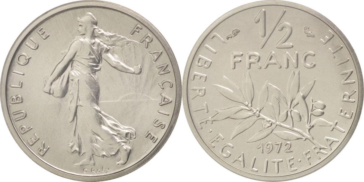 1/2 Franc 1972 Frankreich MS(65-70)