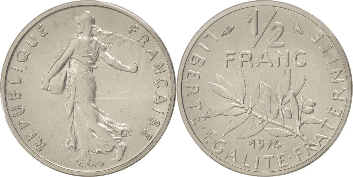 1/2 Franc 1974 Frankreich MS(65-70)