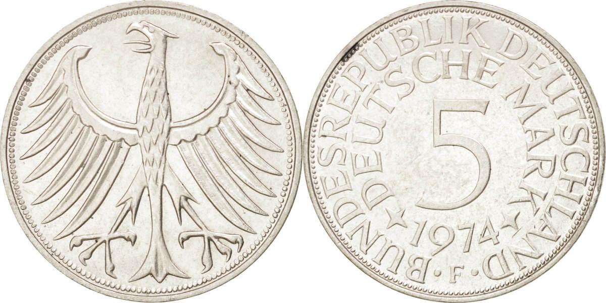 5 Mark 1974 F Bundesrepublik Deutschland AU(55-58)