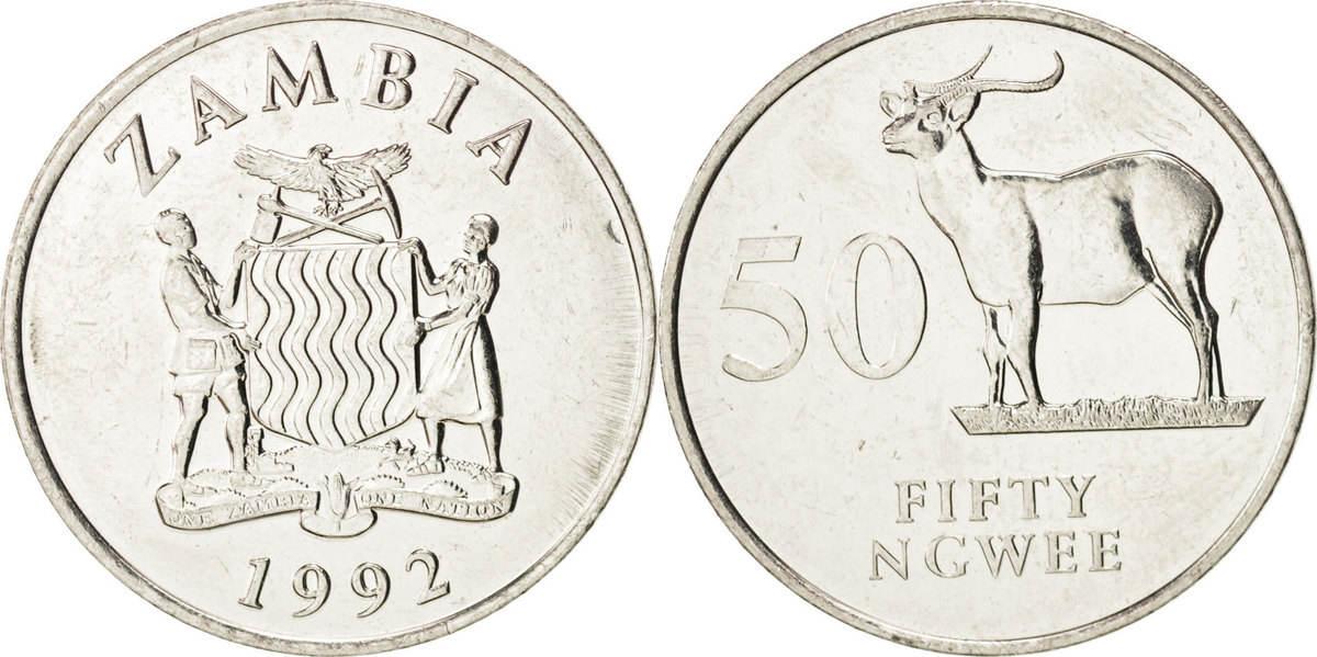50 Ngwee 1992 Sambia MS(63)