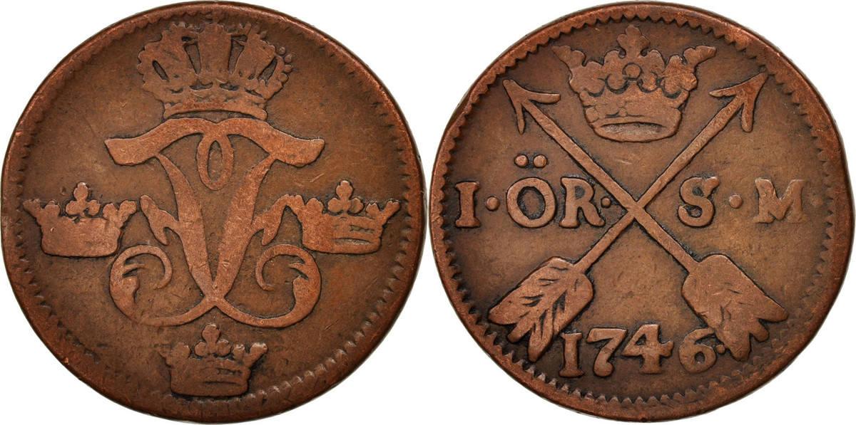 Ore, S.M. 1746 Schweden Frederick I EF(40-45)