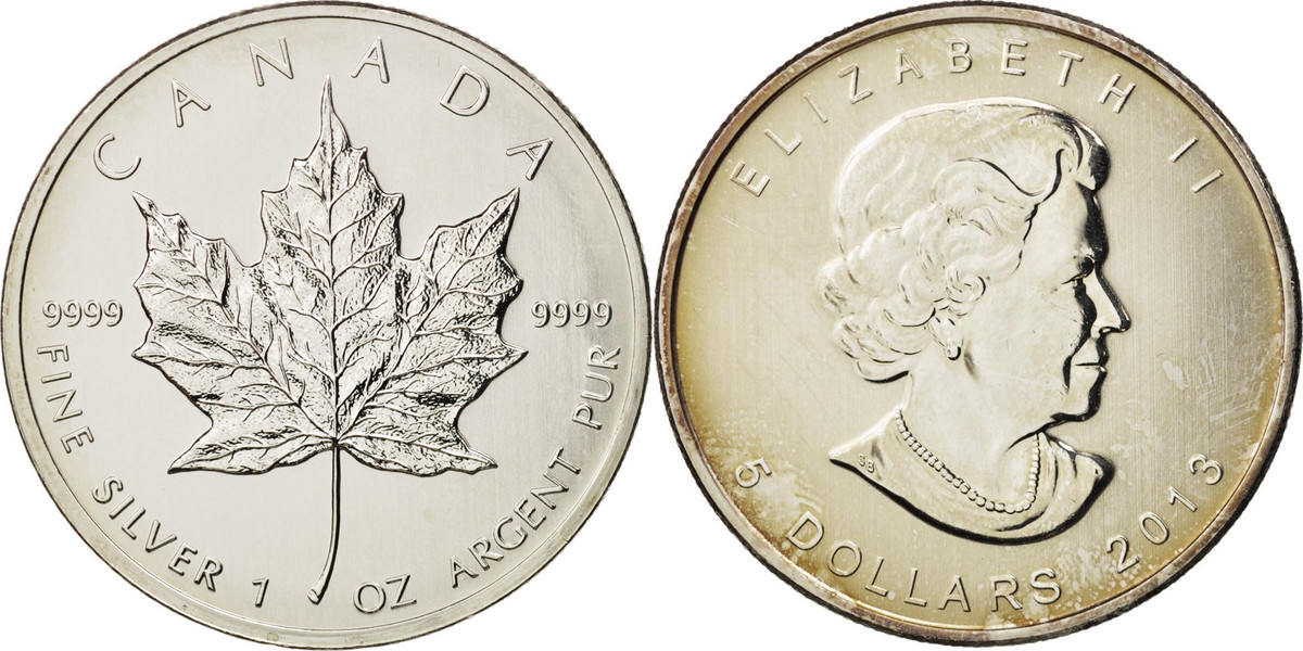 5 Dollars 2013 Royal Canadian Mint Kanada Elizabeth II MS(63)