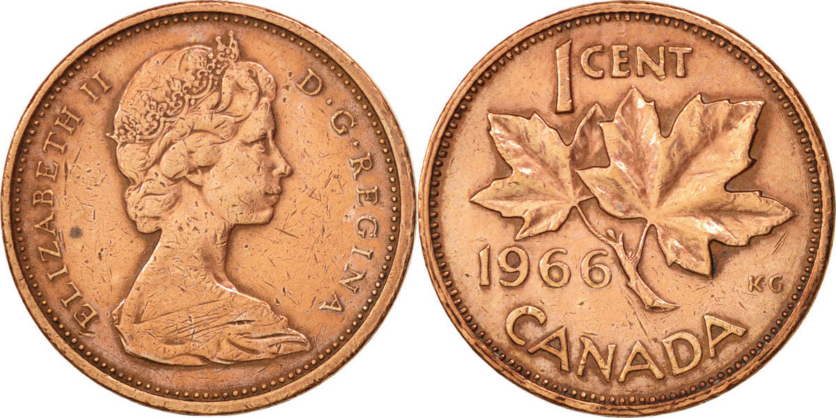 Cent 1966 Royal Canadian Mint Kanada Elizabeth II EF(40-45)