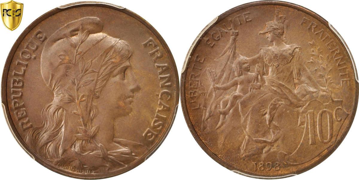 10 Centimes 1898 Paris Frankreich Dupuis MS(63)