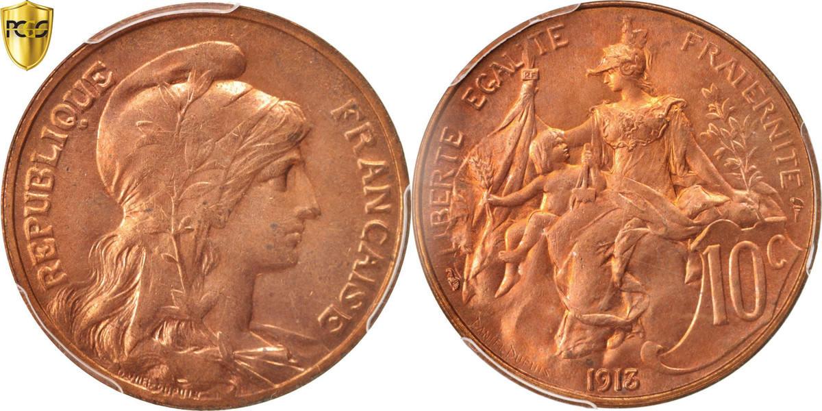 10 Centimes 1913 Paris Frankreich Dupuis MS(63)