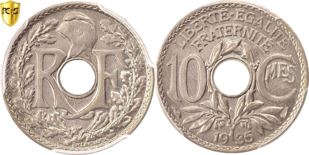 10 Centimes 1935 Paris Frankreich Lindauer MS(65-70)