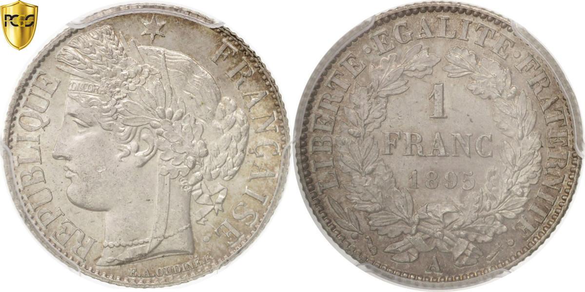 Franc 1895 A Frankreich Cérès MS(63)