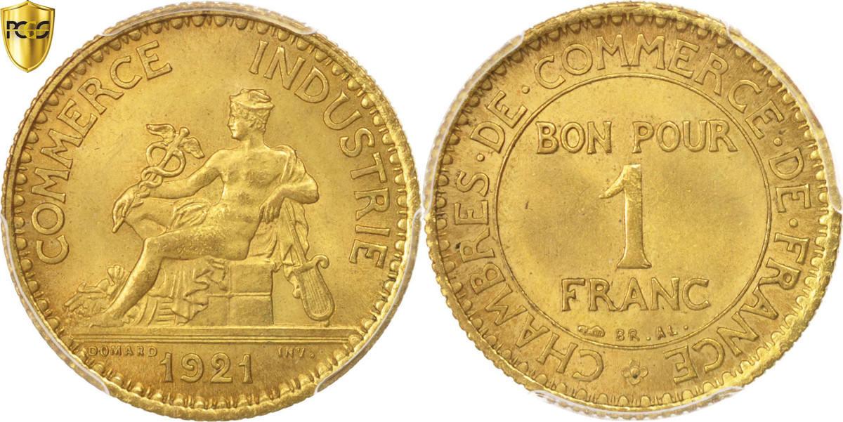 Franc 1921 Paris Frankreich Chambre de commerce MS(65-70)