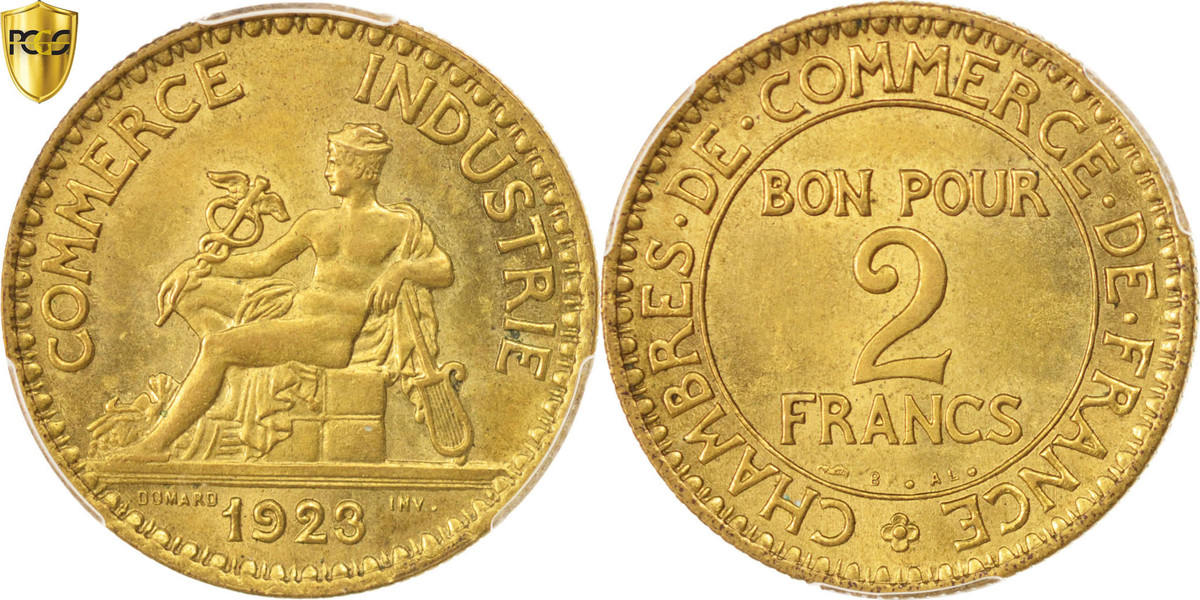 2 francs 1923 paris frankreich m nze chambre de commerce paris pcgs ms65 stgl ma shops - Chambre de commerce de paris adresse ...