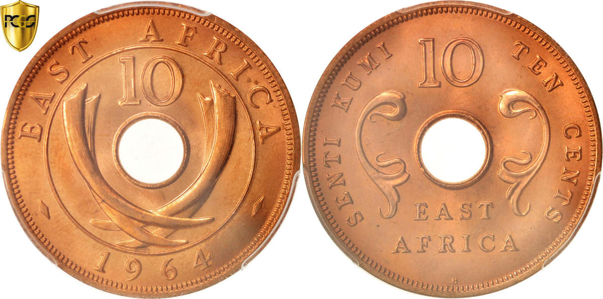 10 Cents 1964 H EAST AFRICA MS(65-70)