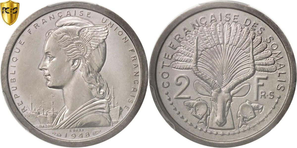 2 Francs 1948 (a) Französisch-Somaliland MS(63)
