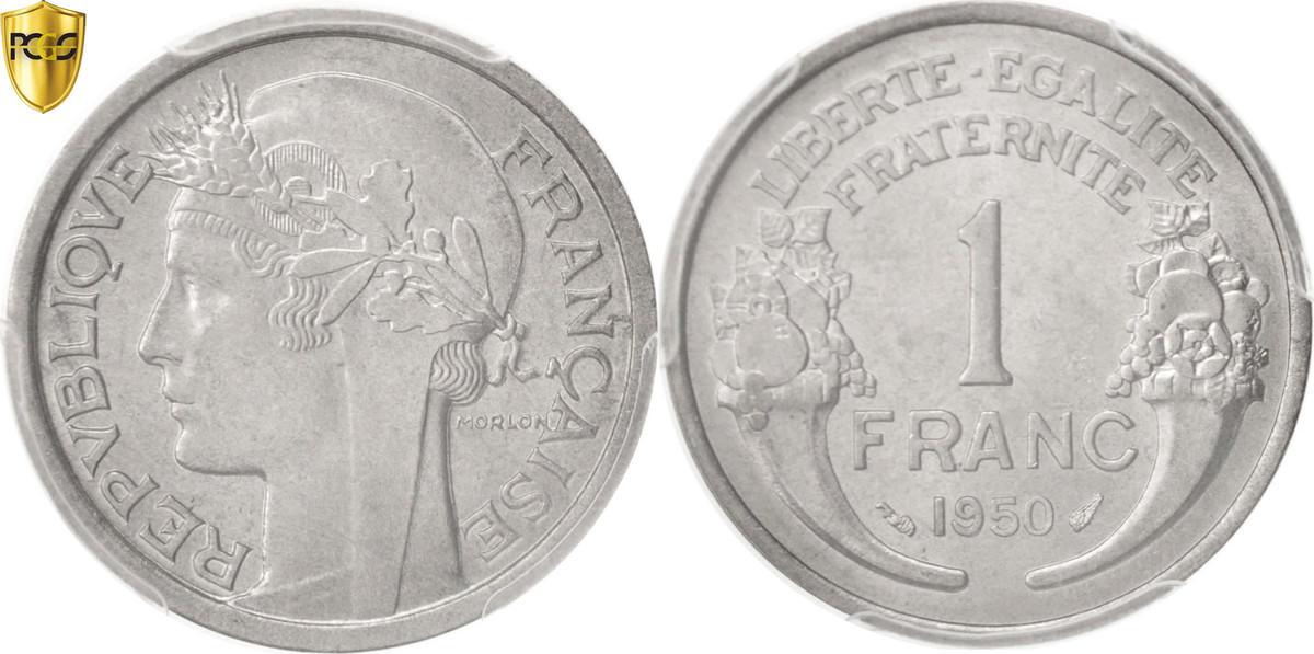 Franc 1950 Paris Frankreich Morlon MS(64)