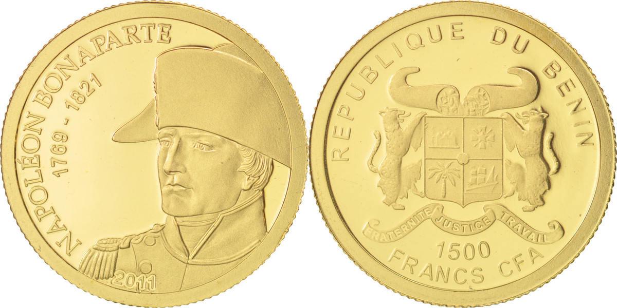 1500 Francs CFA 2011 Benin MS(65-70)