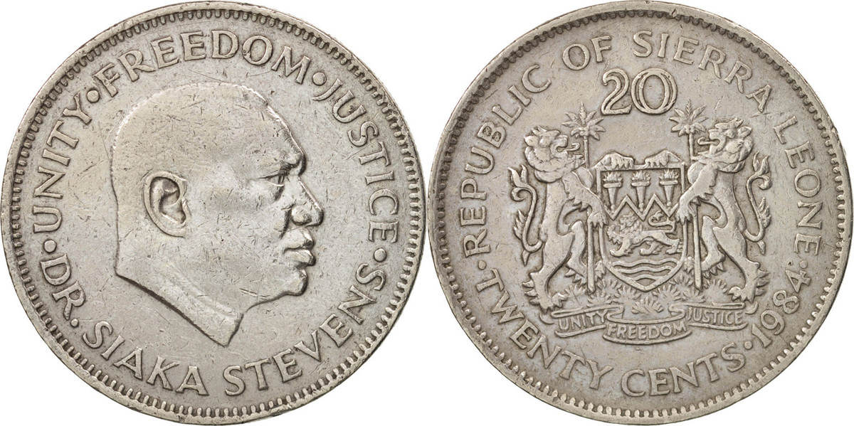 20 Cents 1984 Sierra Leone EF(40-45)