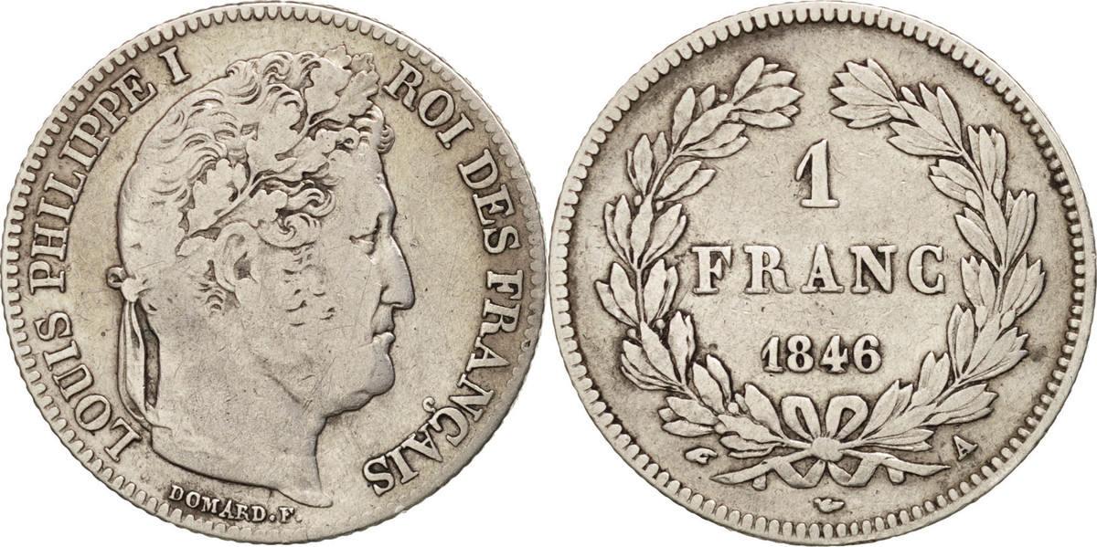 Franc 1846 A Frankreich Louis-Philippe VF(30-35)