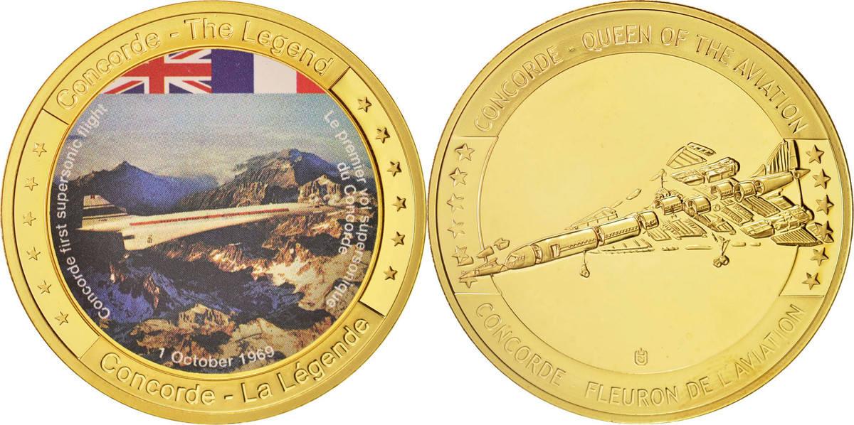Medal Frankreich Concorde - 1 Octobre 1969, STGL, Copper Clad Brass STGL