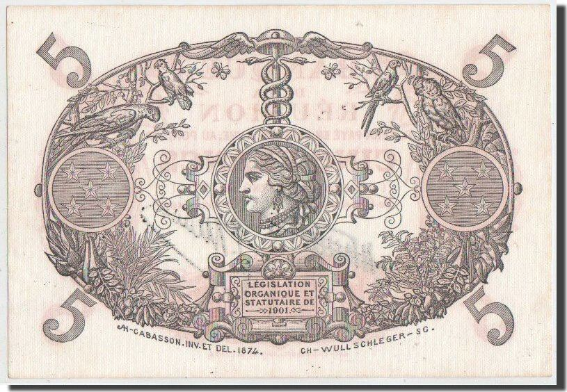 5 Francs 1938 Réunion UNC(60-62)