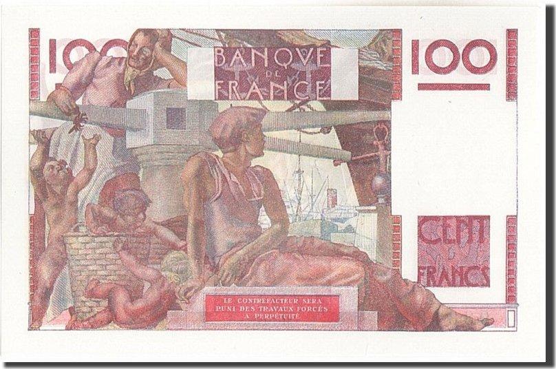 100 Francs 1946 Frankreich 100 F 1945-1954 ''Jeune Paysan'', KM:128a, 1946... UNZ