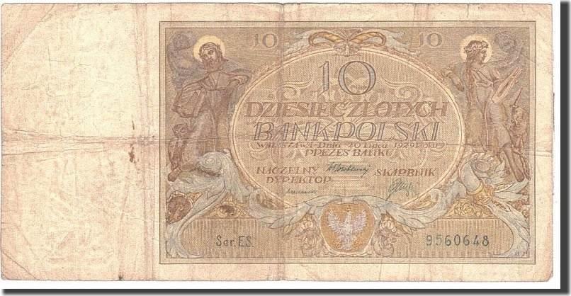 10 Zlotych 1929 Polen 1929-07-20, KM:69, S S