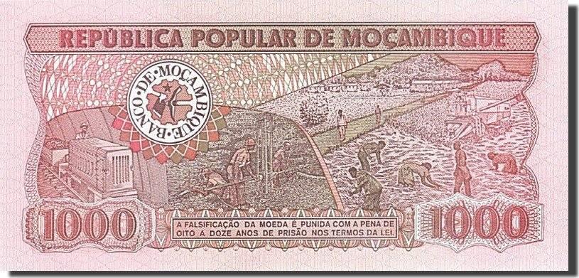 1000 Meticais 1983-1988 Mosambik UNC(65-70)