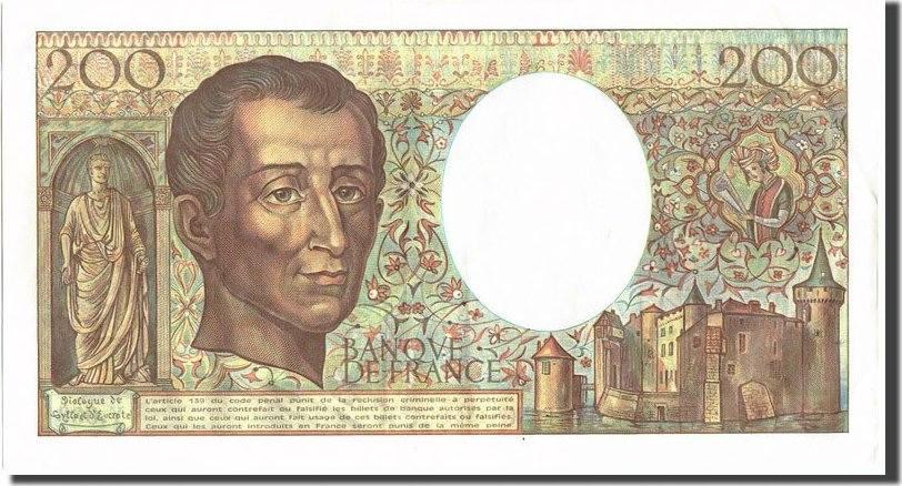 200 Francs 1986 Frankreich 200 F 1981-1994 ''Montesquieu'', KM:155a,... SS+