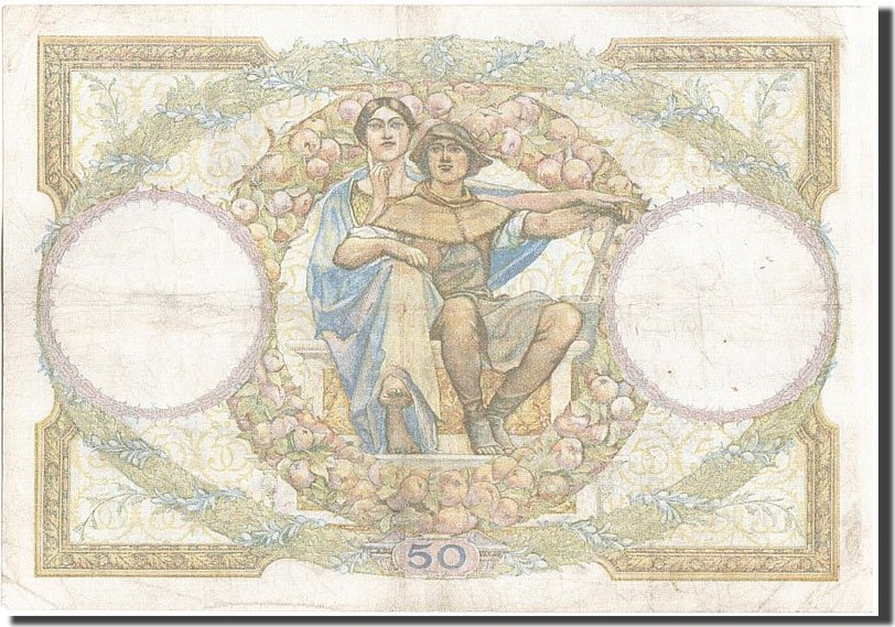 50 Francs 1933 Frankreich 50 F 1927-1934 ''Luc Olivier Merson'', KM:80b, 1... SS