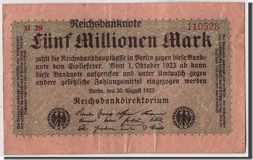5 Millionen Mark 1923 Deutschland VF(20-25)