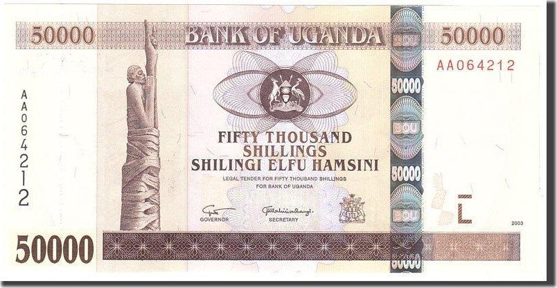 50,000 Shillings 2003 Uganda UNC(65-70)